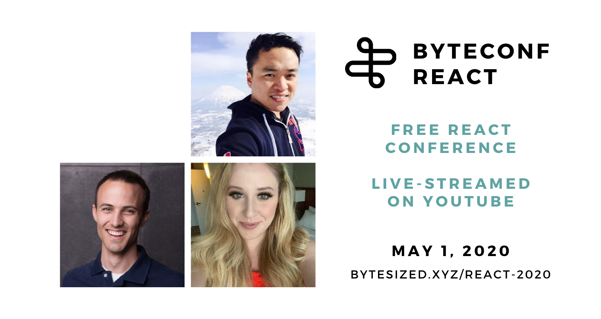 Announcing our first set of speakers for our free, remote React conf