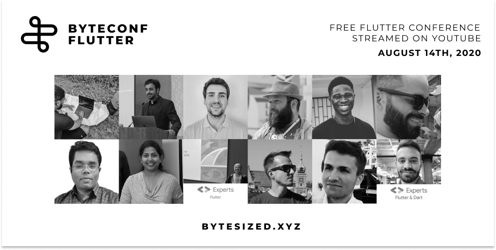 Announcing our first set of speakers for our free, remote Flutter conference