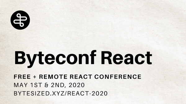 Rewatch Byteconf React 2020 on YouTube